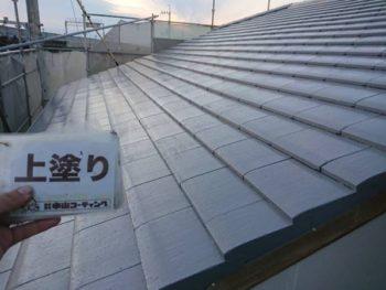 徳島県 川内町 屋根 塗装 上塗り