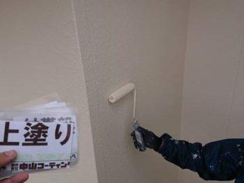 徳島県 川内町 外壁 塗装 上塗り