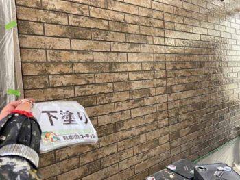 徳島県 北田宮 外壁 塗装後 下塗り
