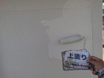 徳島県 小松島市 外壁 塗装 上塗り