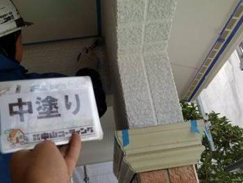 徳島県 藍住町 外壁 塗装 中塗り