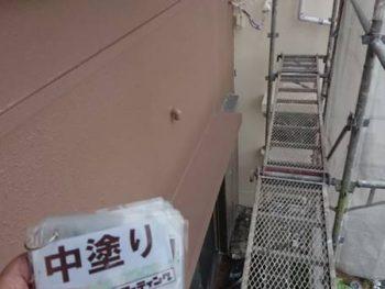 徳島県 川内町 外壁塗装 中塗り