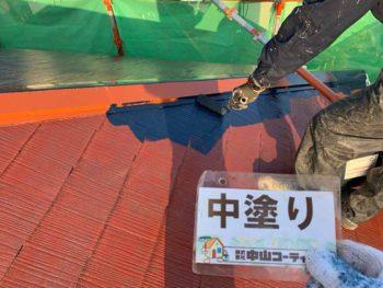 徳島県 大麻町 屋根 塗装 中塗り
