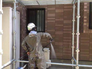 徳島県 撫養町 洗浄 外壁 目地