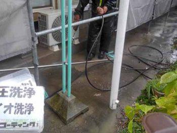 徳島県 大麻町 高圧洗浄 土間