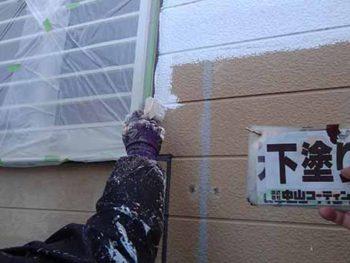 徳島県 大麻町 外壁塗装 下塗り