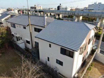 徳島県 川内町 施工後 裏面 全体