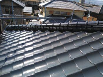 徳島県 国府町 屋根 塗装後 上塗り