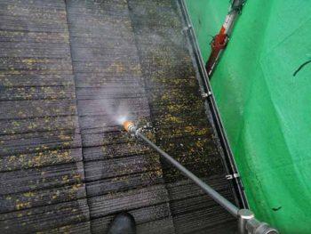 兵庫県 南あわじ市 洗浄 屋根 苔 汚れ