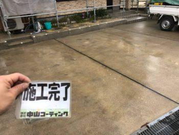 徳島県 川内町 高圧洗浄 土間