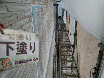 徳島県 八万 外壁塗装後 下塗り