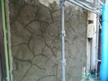 徳島県 徳島市 銀座 モルタル造形 石垣