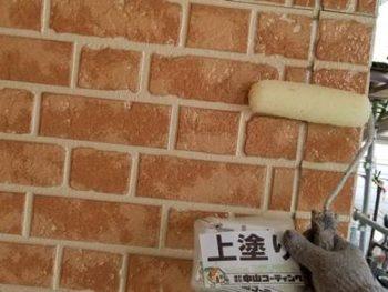 徳島県 藍住町 外壁 塗装 サイディング 上塗り