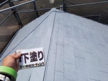 徳島県 板野郡 屋根塗装後 下塗り