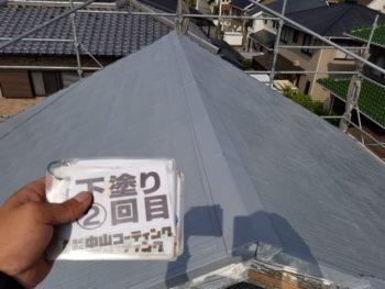 徳島県 板野郡 屋根塗装 下塗り 2回目