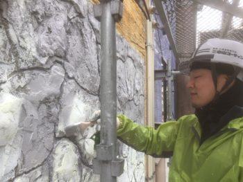 徳島県 徳島市 銀座 壁面塗装 石垣 下塗り
