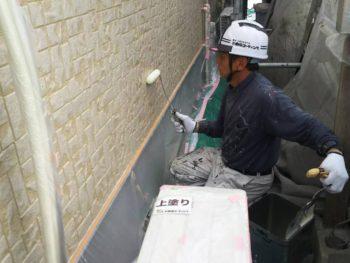 徳島県 城東町 病院 外壁 塗装 上塗り