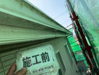 徳島県 大麻町 施工後 付帯部 苔