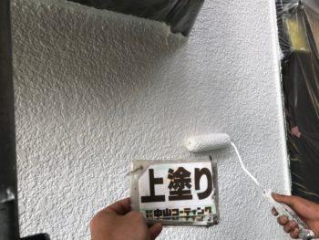 徳島県 国府町 外壁 塗装 上塗り