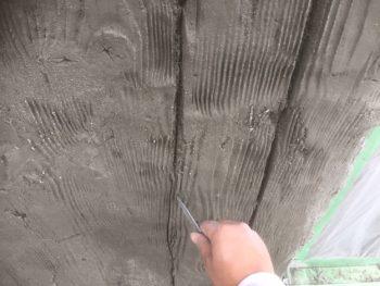 徳島県 徳島市 銀座 モルタル造形 木目 板