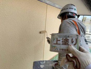 徳島県 板野郡 北島町 外壁 塗装 上塗り