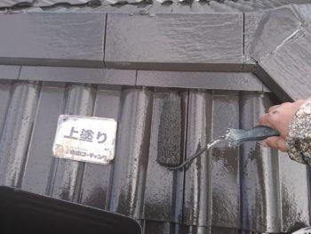 徳島県 小松島市 屋根 塗装 上塗り