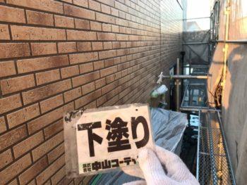 徳島県 川内町 外壁 塗装 下塗り後