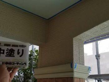 徳島県 藍住町 外壁 塗装後 中塗り