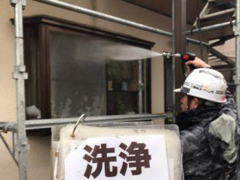 徳島県 国府町 高圧洗浄 外壁 窓