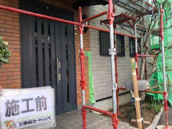 徳島県 藍住町 玄関ドア 取り換え工事 施工前