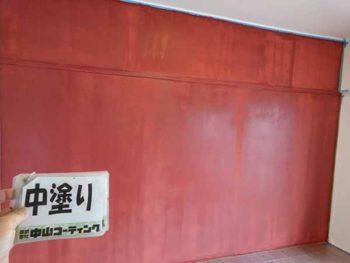 徳島県 マンション 室内塗装 壁面 中塗り