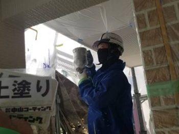 徳島県 藍住町 外壁 塗装 上塗り
