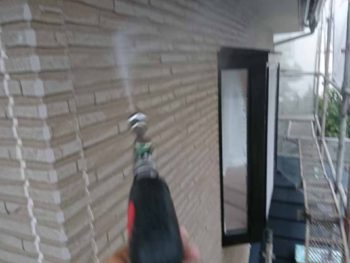 徳島県 八万 高圧洗浄 外壁 チョーキング