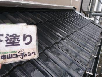 徳島県 小松島市 屋根 塗装後 下塗り