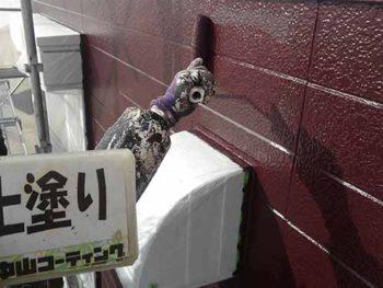 徳島県 大麻町 外壁塗装 上塗り