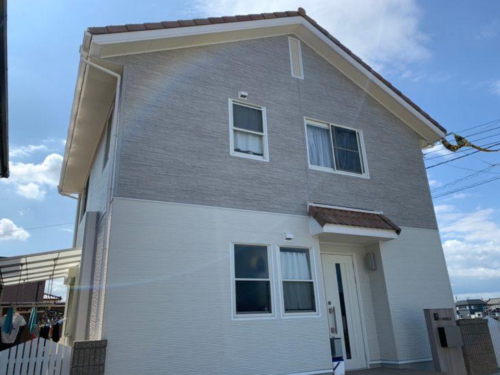 板野郡藍住町【外壁張り替え金属サイディングで新築】