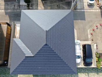 屋根 キレイ 塗り縦 塗装