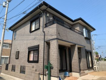 徳島市国府町 AGCボンフロンGTで多彩模様塗装 施工例