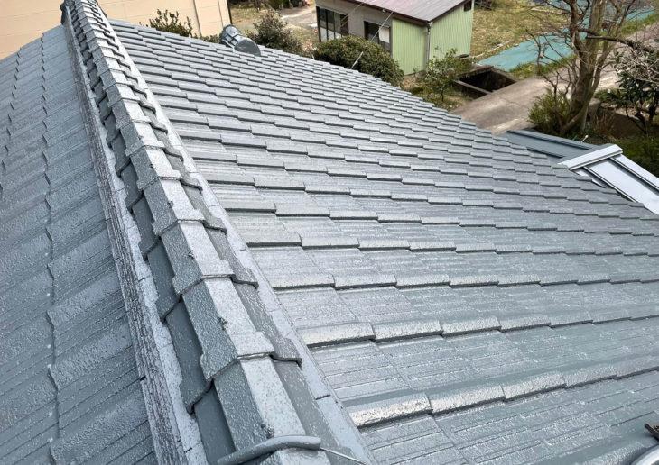 小松島市で屋根塗装が完工しました。