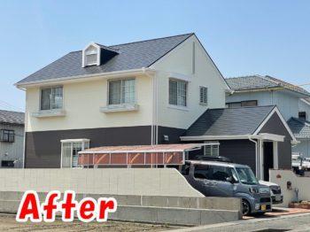 板野郡藍住町 屋根・外壁塗装 施工後