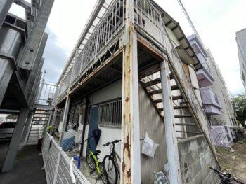 徳島市アパート階段塗装