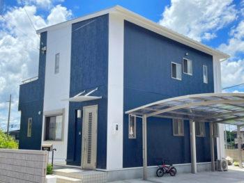 新築から外壁色を反対(逆)にして、とても気に入る家となりました。