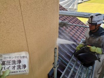 徳島 塗装 ガイソーパワークリーナー 外壁 バイオ洗浄
