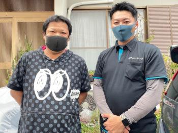 徳島市鮎喰町で外壁塗装 荷物移動や預かりも助かりました。